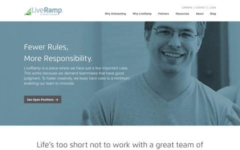Screenshot of Jobs Page liveramp.com - Careers | LiveRamp - captured July 24, 2015