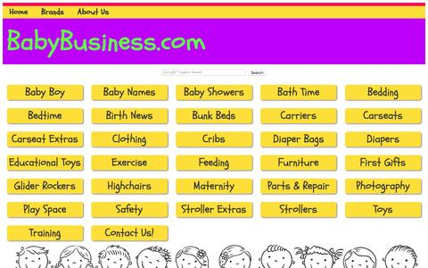 Screenshot of Products Page baby-business.com - BabyBusiness.com, directory for products in the baby, infant and juvenile industry - captured June 15, 2016