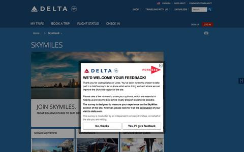 SkyMiles® Loyalty Program : Delta Air Lines