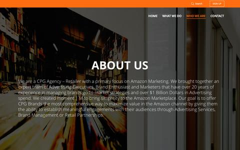 Screenshot of About Page momentm.com - Amazon Advertising Agency | moment | M | Amazon Marketing | moment | M - captured Nov. 7, 2018