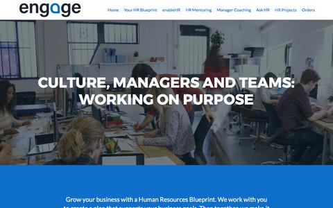 Screenshot of Home Page engagehr.co.nz - Engage HR | - captured Oct. 10, 2017