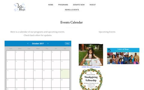 Screenshot of Press Page voiceofhope.org - Voice of Hope ministries calendar and special events. Videos and photos of activities and events. - Voice of Hope - captured Oct. 22, 2017