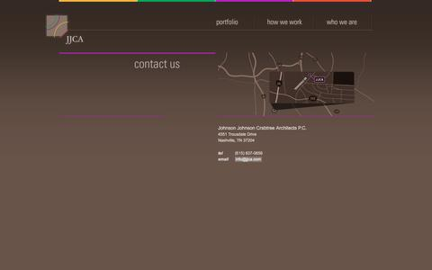 Screenshot of Contact Page jjca.com - Johnson Johnson Crabtree Architects P.C. | Contact - captured Dec. 20, 2015