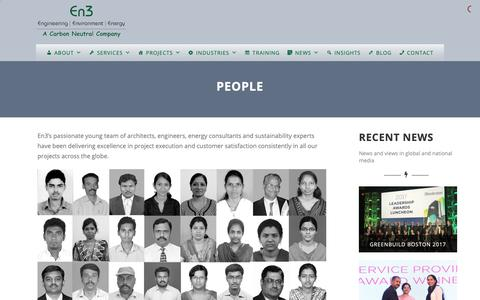 Screenshot of Team Page en3online.com - People – En3 – Green Building & LEED Consultant - captured Sept. 28, 2018