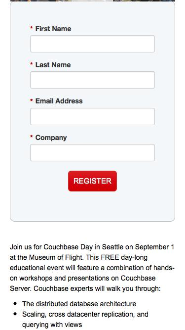 Couchbase Day Seatlle