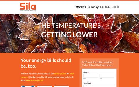 Screenshot of Landing Page sila.com - Real Deal Pricing for Oct - Sila Air Conditioning and Heating Repairs - captured Oct. 27, 2014
