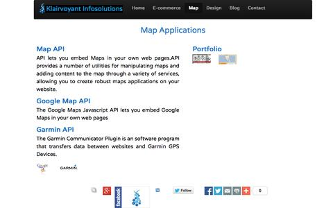 Screenshot of Maps & Directions Page klairvoyant.in - Klairvoyant Infosolutions:- we provide web solutions - captured Oct. 27, 2014