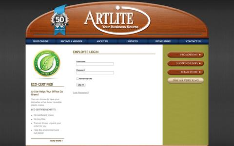 Screenshot of Login Page artlite.net - Employee Login - captured Oct. 4, 2014