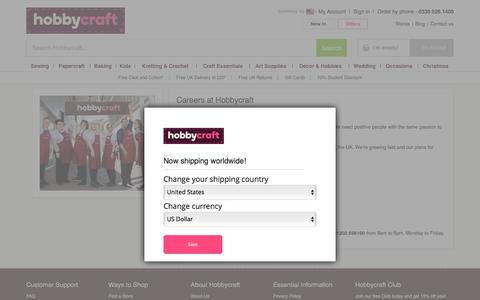 Screenshot of Jobs Page hobbycraft.co.uk - Careers   Hobbycraft - captured Sept. 22, 2018