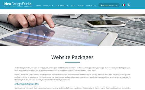 Screenshot of Pricing Page ideadesignstudio.com - Website Packages - Perfect Custom Website - Idea Design Studio - captured June 21, 2017