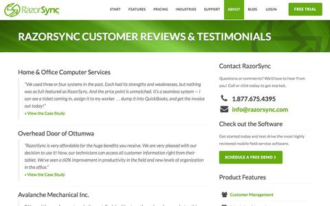 RazorSync Software Customer Reviews & Testimonials