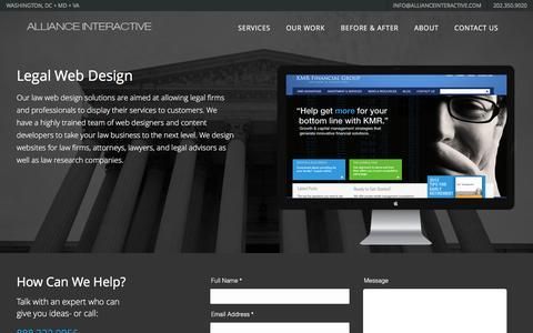 Screenshot of Terms Page allianceinteractive.com - Legal Web Design - Alliance interactive - captured Feb. 5, 2016