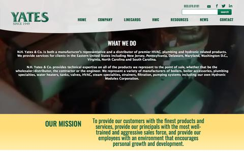 Screenshot of About Page nhyates.com - Company – Yates - captured Feb. 6, 2018