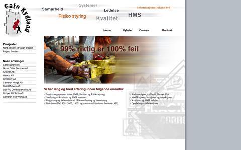 Screenshot of Home Page kydland.as - Cato Kydland - captured Oct. 2, 2014
