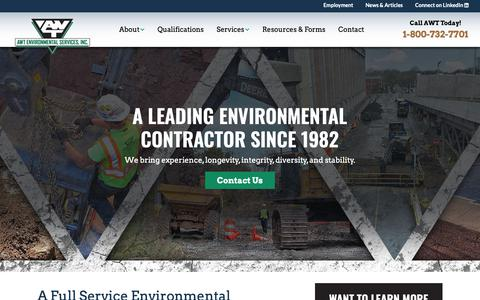 Screenshot of Home Page awtenv.com - AWT Environmental Services - A Leading Environmental Contractor - captured Nov. 20, 2018