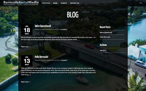 Screenshot of Blog bermudaaerial.com - BLOG ‹ Bermuda Aerial Media - captured Oct. 5, 2014