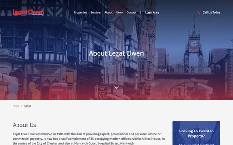 Screenshot of About Page legatowen.co.uk - About - Legat Owen - captured May 17, 2017