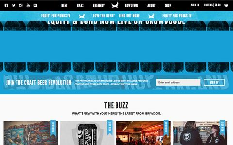Screenshot of Home Page brewdog.com - BrewDog UK | Scottish Craft Beer Company - captured Oct. 19, 2015