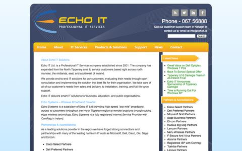 Screenshot of About Page echoit.ie - About Echo IT Solutions   Echo IT - Professional IT Services - captured Oct. 1, 2014