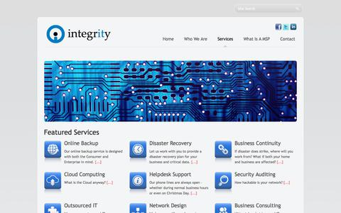 Screenshot of Services Page integrity.ky - Services - captured Oct. 15, 2017