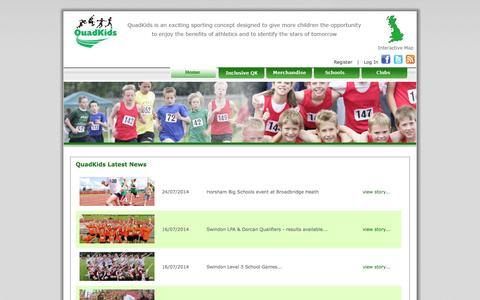 Screenshot of Press Page quadkids.org - QuadKids News - captured Oct. 2, 2014