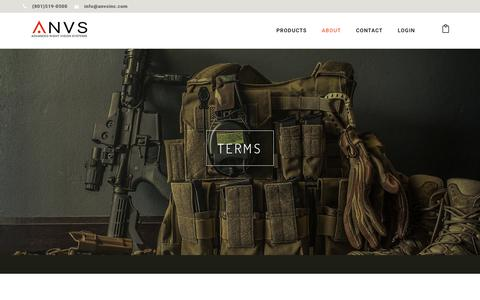 Screenshot of Terms Page anvsinc.com - ANVS Inc. Purchasing Terms | ANVS Inc. Night Vision Night Vision Devices - captured Oct. 30, 2018