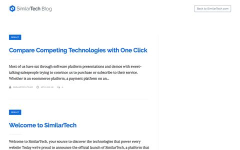 Screenshot of Blog similartech.com - SimilarTech Blog - captured June 21, 2016