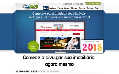 Screenshot of Home Page oximob.com.br - Site para imobiliária - captured June 21, 2015