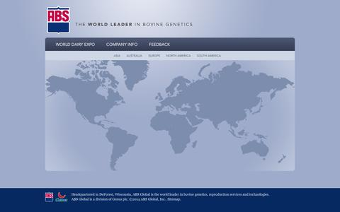 Screenshot of Home Page absglobal.com - Home   ABS Global, Inc. - captured Sept. 30, 2014