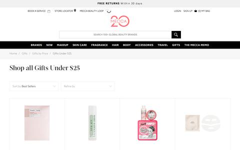 Shop affordable Mecca Beauty Gifts Under $25 | MECCA