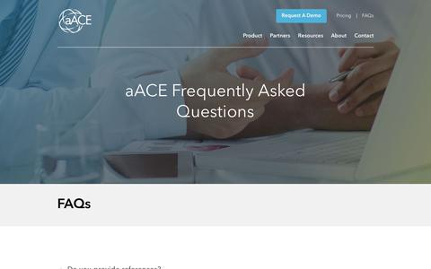 Screenshot of FAQ Page aacesoft.com - FAQs - aACEsoft Business Management Software for Mac and PC - captured Oct. 9, 2017