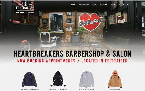 Screenshot of Home Page feltraiger.com - Feltraiger - captured Jan. 8, 2016
