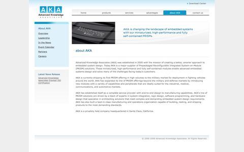 Screenshot of About Page a-k-a.net - AKA : Advanced Knowledge Associates - captured Nov. 20, 2016