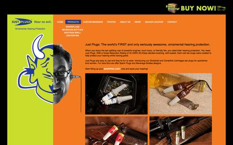 Screenshot of Products Page justplugs.com - JustPlugs® : Products - captured Aug. 5, 2015