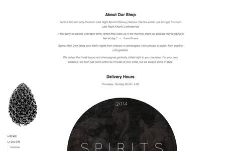 Screenshot of About Page spirits-after-dark.com - About — Spirits After Dark - captured Oct. 1, 2014