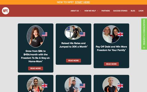 Screenshot of netprofitexplosion.com - Success Stories   Net Profit Explosion - captured Aug. 23, 2016