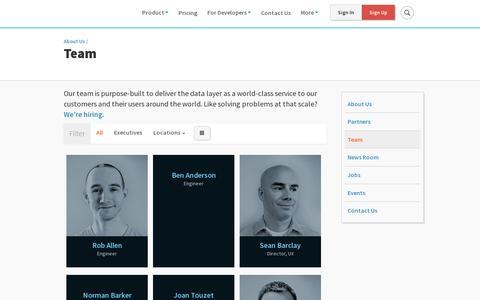 Screenshot of Team Page cloudant.com - Team | Cloudant - captured July 21, 2014