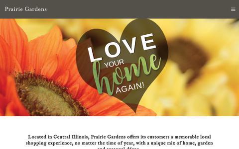 Screenshot of Home Page prairiegardens.com - Prairie Gardens - captured Aug. 12, 2017