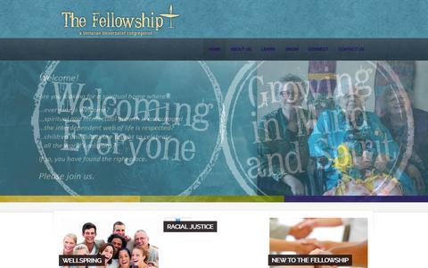 Screenshot of Home Page fvuuf.org - Fox Valley Unitarian Universalist Fellowship – Fox Valley Unitarian Universalist Fellowship - captured Feb. 10, 2016