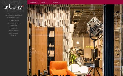 Screenshot of Home Page urbana15.com - Urbana 15 - Estudio de interiorismo y decoración en Bilbao - Reformas integrales - captured June 18, 2015