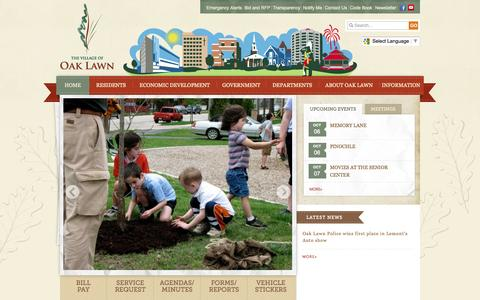 Screenshot of Home Page oaklawn-il.gov - Village of Oak Lawn : Home - captured Oct. 6, 2014