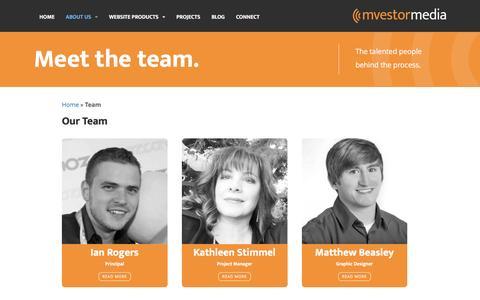 Screenshot of Team Page mvestormedia.com - Meet the Mvestor Media Team | Mvestor Media - captured Sept. 6, 2016