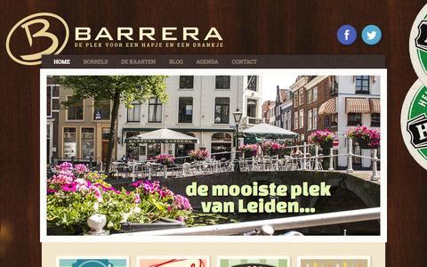 Screenshot of Home Page cafebarrera.nl - Café Barrera - De plek voor een hapje en een drankje - captured Oct. 12, 2015