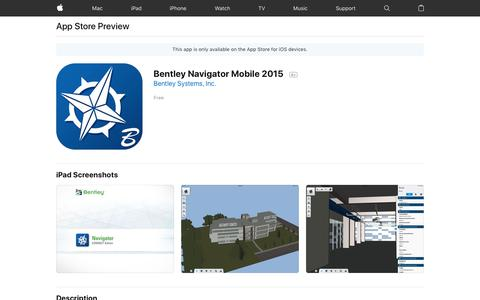 Bentley Navigator Mobile 2015 on the App Store