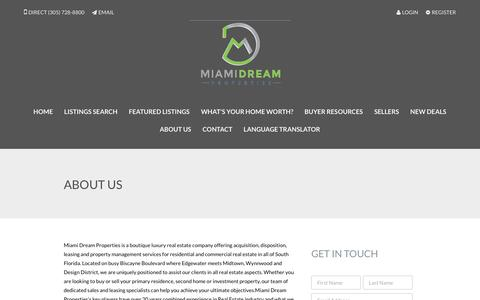 Screenshot of About Page miamidream.com - About Us - Miami Dream Properties - captured Oct. 18, 2017