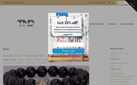 Screenshot of Press Page designsbytnicole.com - News – T. Nicole Designs - captured Oct. 24, 2017