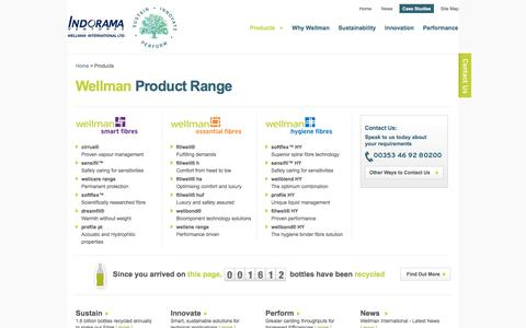 Screenshot of Products Page wellman-intl.com - Product Range | Wellman International - captured Feb. 14, 2016