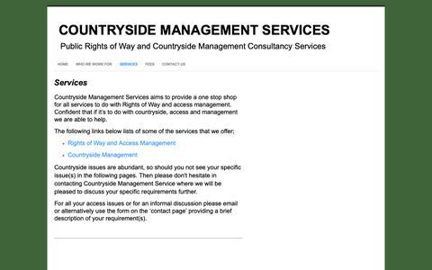 Screenshot of Services Page countrysidemanagementservice.co.uk - Services - Countryside Management Services - captured Sept. 29, 2018
