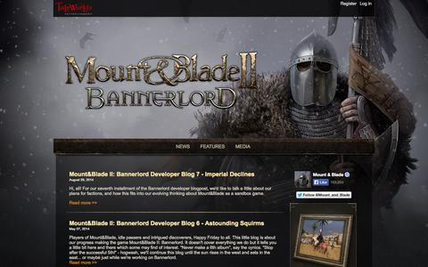 Screenshot of Blog taleworlds.com - Mount&Blade II Bannerlord - TaleWorlds Entertainment - captured Sept. 18, 2014