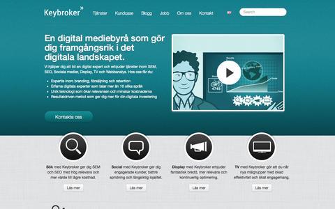Screenshot of Home Page keybroker.se - Onlinemarknadsföring | Keybroker | Onlinemarknadsföringsbyrå - captured Jan. 27, 2015